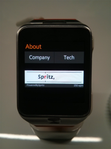 Spritz Watch